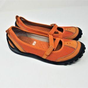 Privo Orange Hiking Walking Flats 1186